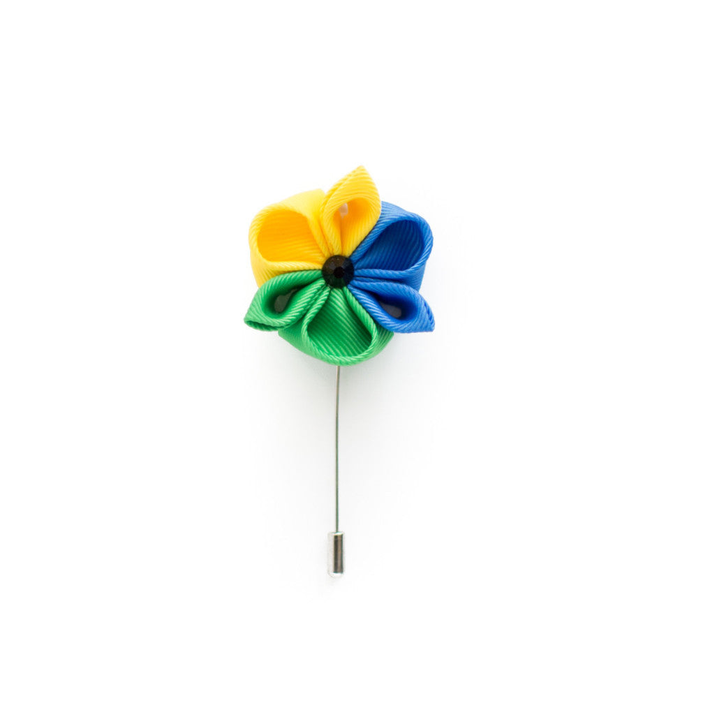 Blue Jasmine Lapel Flower King Kravate The Neckwear Of Kings
