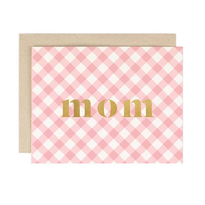 Mom Gingham Check Card