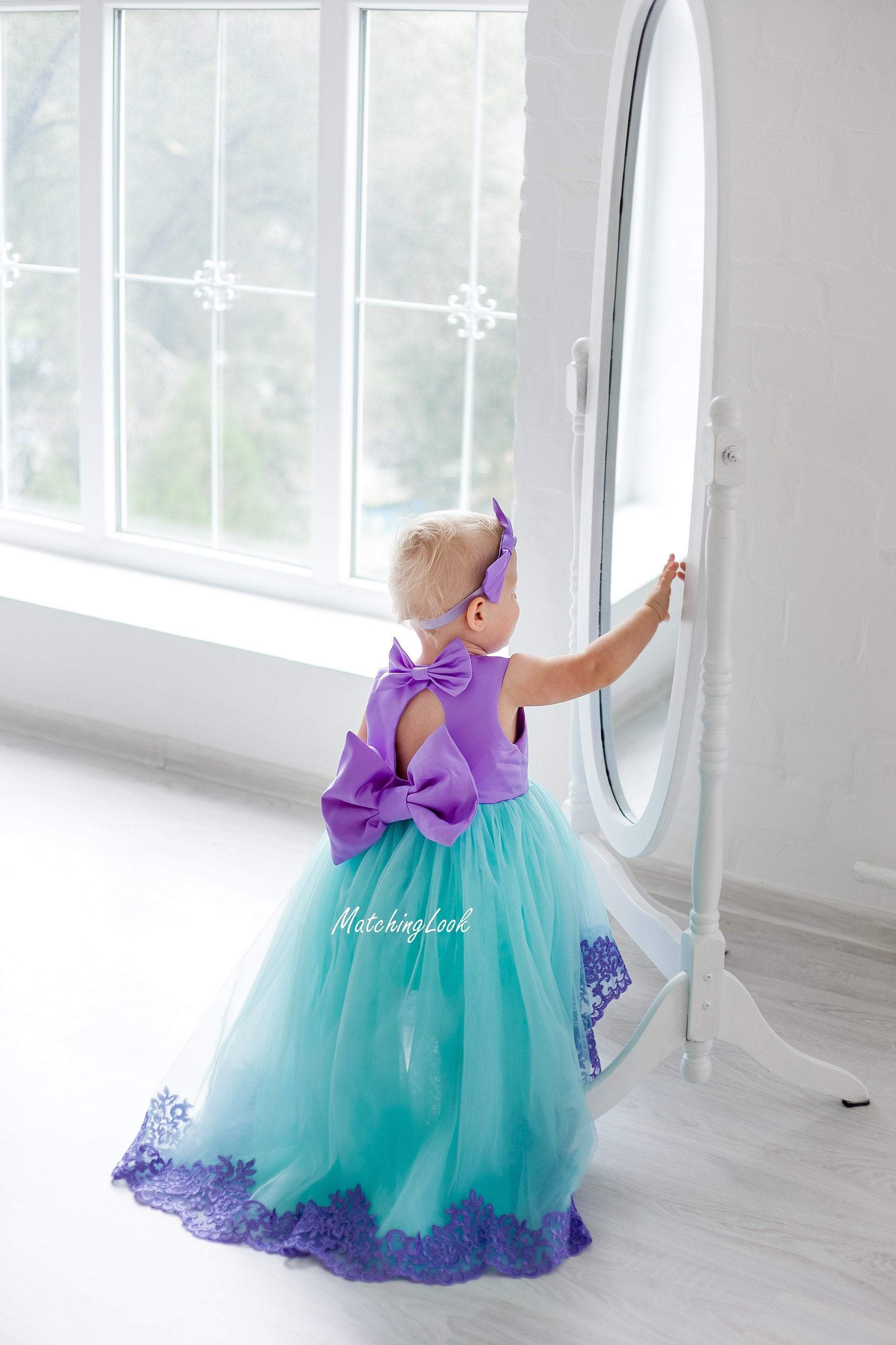 981c22512 Ariel Dress - Little Mermaid Dress - 1st birthday outfit - birthday party  costume - Princess