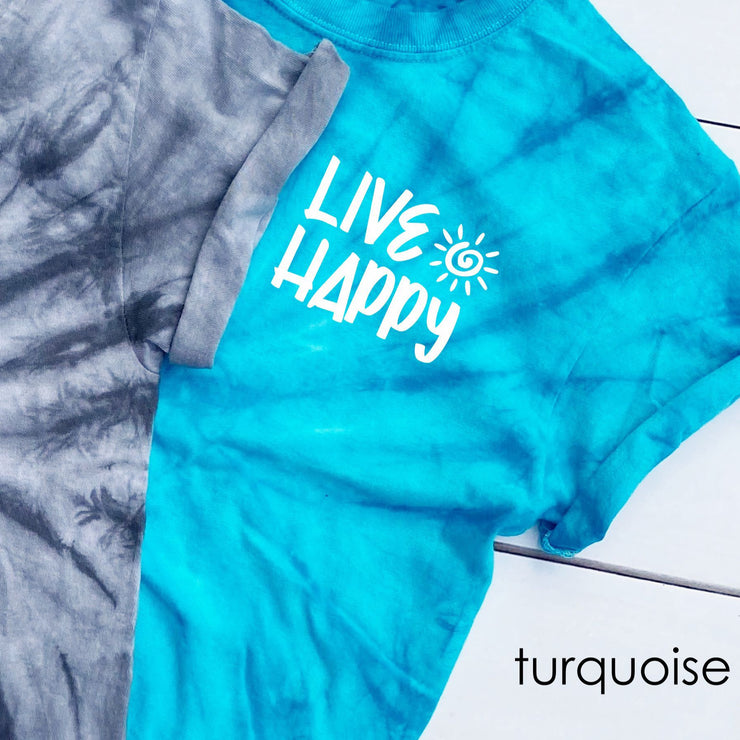 Tie Dye Shirt for Women - Live Happy