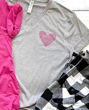 Women's Valentine's Day T-Shirt - XOXO Heart