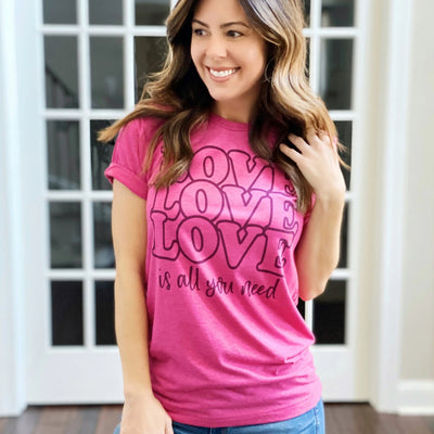 Women's Valentine's Day T-Shirt - Love is all you need
