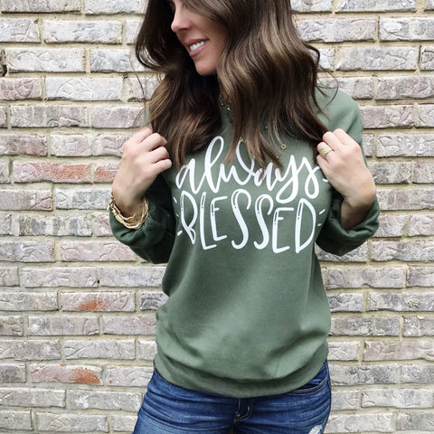 Women's Fall Sweater - Always Blessed