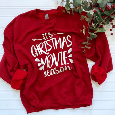 Women's Christmas Movie Watching Sweatshirt