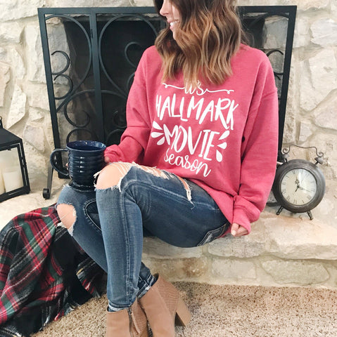 Clearance - Hallmark Movie Sweatshirt - Red