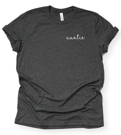 New Aunt Shirt - Cursive Writing Auntie