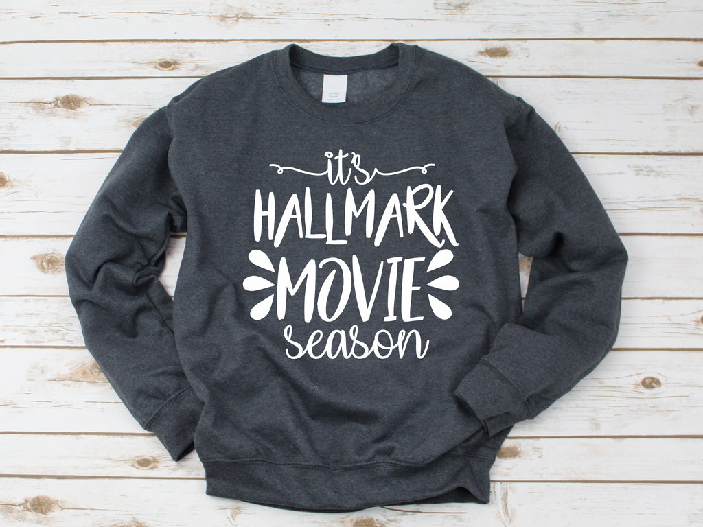 Clearance - Hallmark Movie Sweatshirt - Grey Size Large