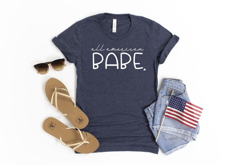 Women's Patriotic Shirt - All American Babe