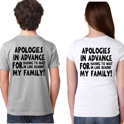 Funny Kid's Disney T-Shirt - Unisex Tee Apologies In Advance