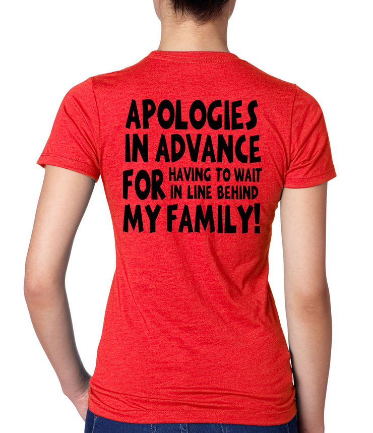 Funny Womens Disney T Shirt - Minnie Head and Apologies Short Sleeve Tee