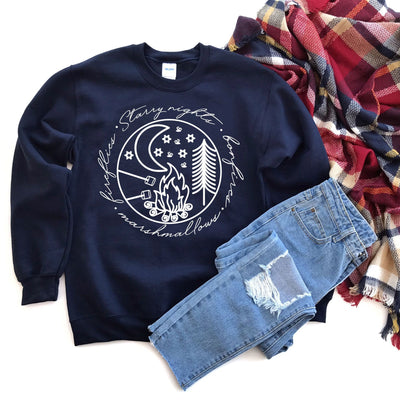 Starry Night Bonfire Pullover