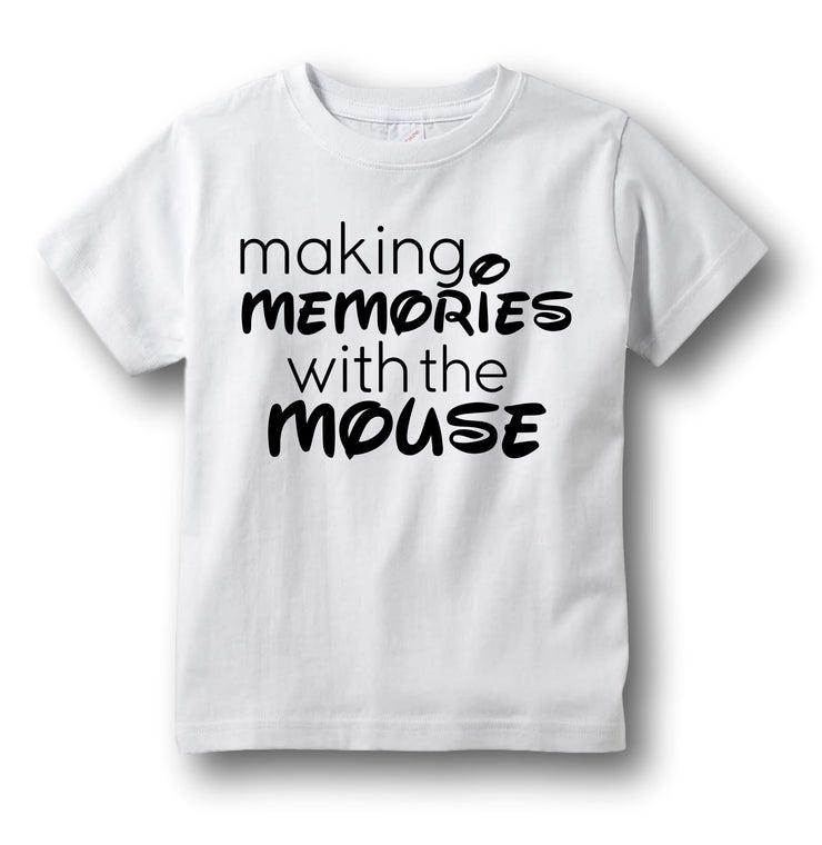 "Disney Shirt ""Making Memories With the Mouse"" Unisex"