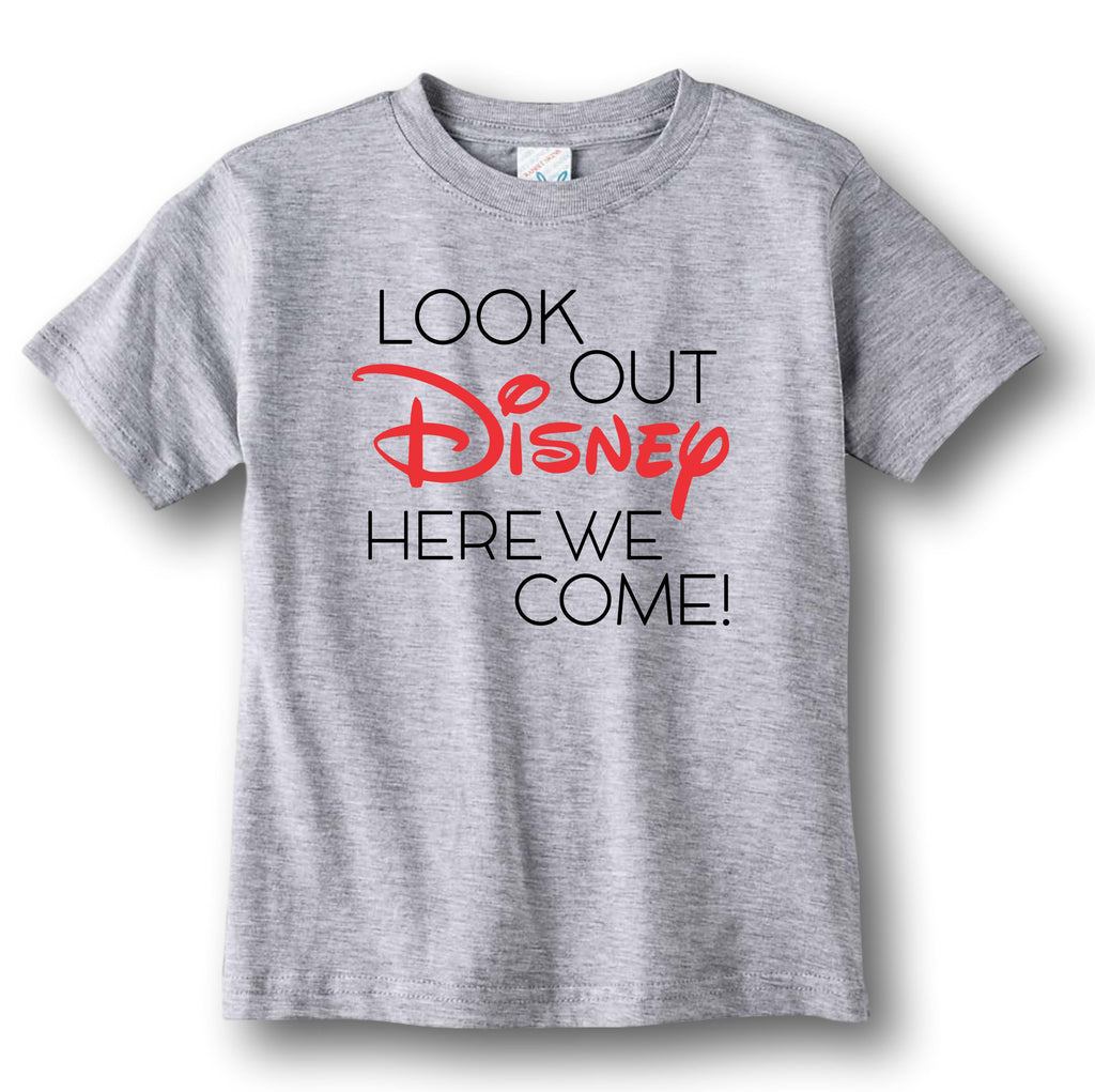 Funny Kids Disney Shirt - Look Out Disney