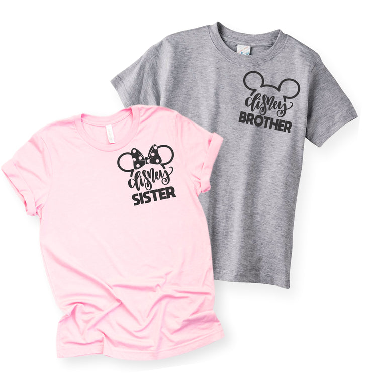 Matching Family Shirts - Disney Brother Sister