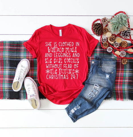 Buffalo Plaid Christmas 24:7 Women's Shirt