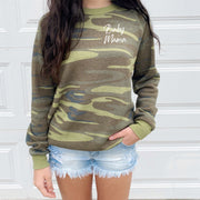 Mom Camo Sweater - Baby Mama