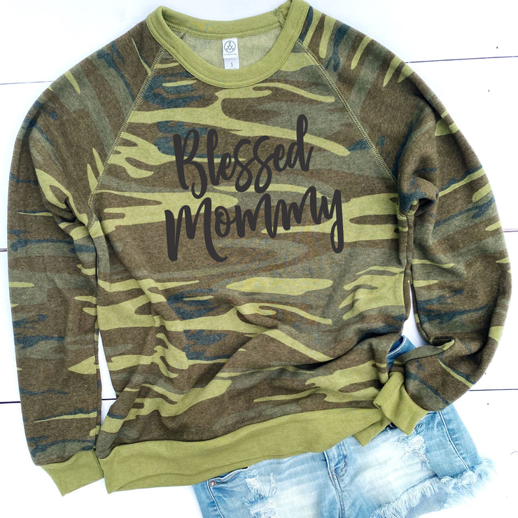 Blessed Mommy Camo Sweatshirt