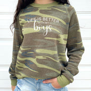 Boy Mom Sweatshirt - Camo Better With Boys