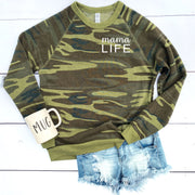 Mom Life Camo Sweater - MAMA LIFE