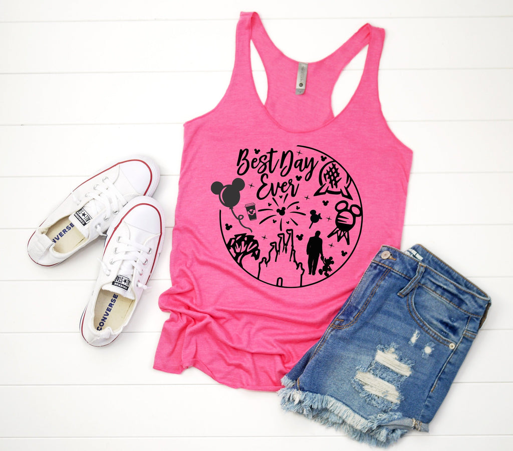 Womens Disney Tank Top - Best Day Ever
