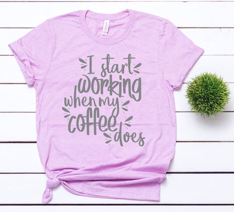 Favorite Morning Tee - When My Coffee Does (PREORDER)