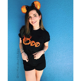 Women's Black Halloween Tee - Disney Boo