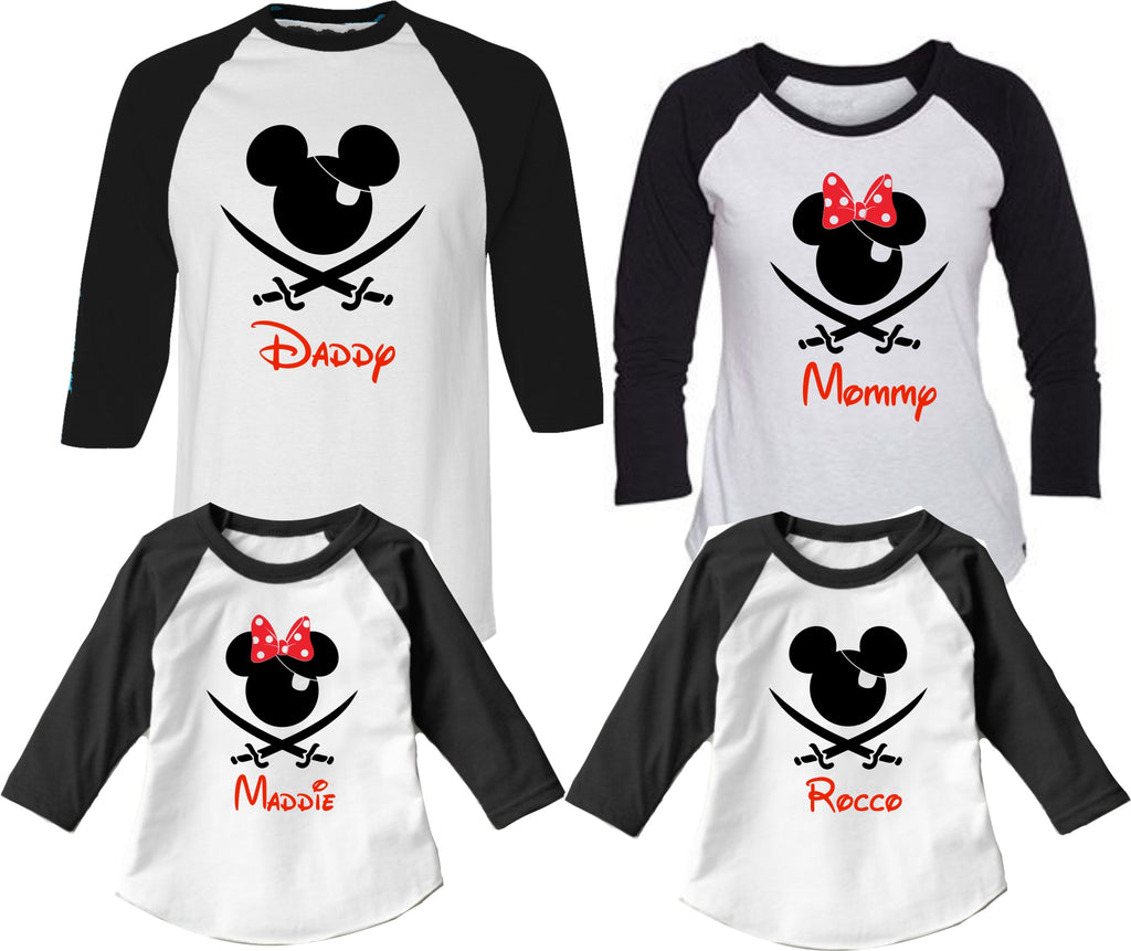 Disney Shirts Pirate Night Cruise Baby Adult