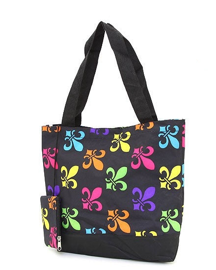 Fleur De Lis Tote Bag and Change Purse