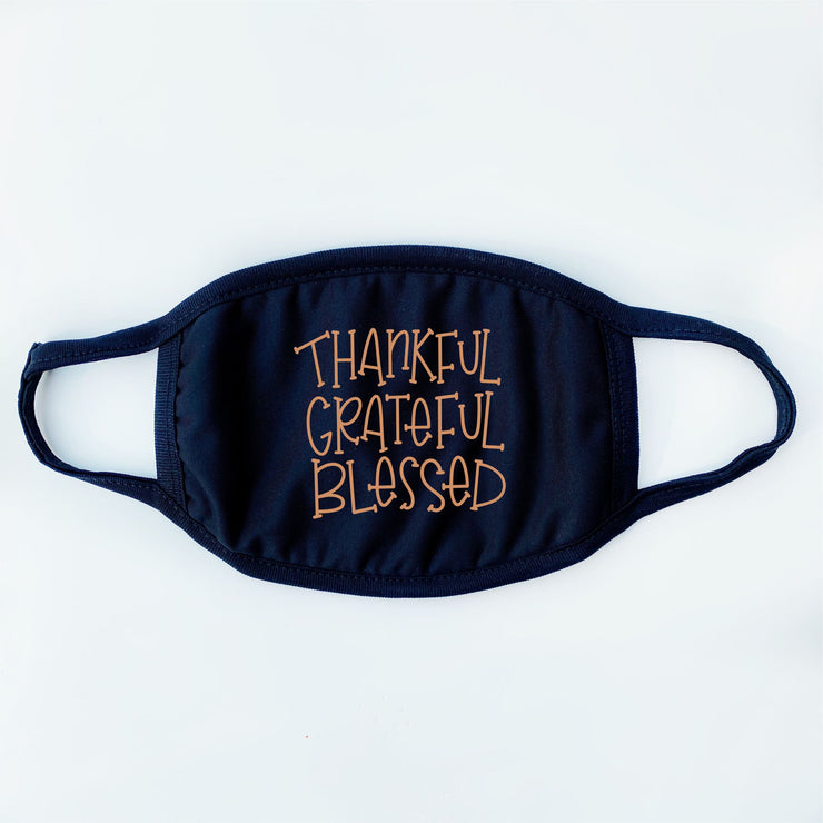Fall Face Masks - Thankful Grateful Blessed