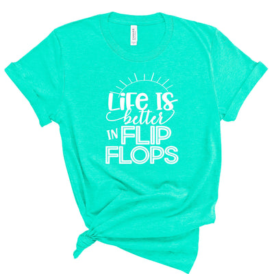 Life is Better in Flipflops Women's Tee