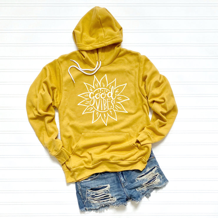 Good Vibes Sunflower - Premium Sponge Fleece