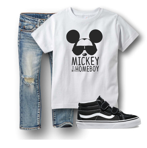 Mickey is My Homeboy Boys Disney Shirt