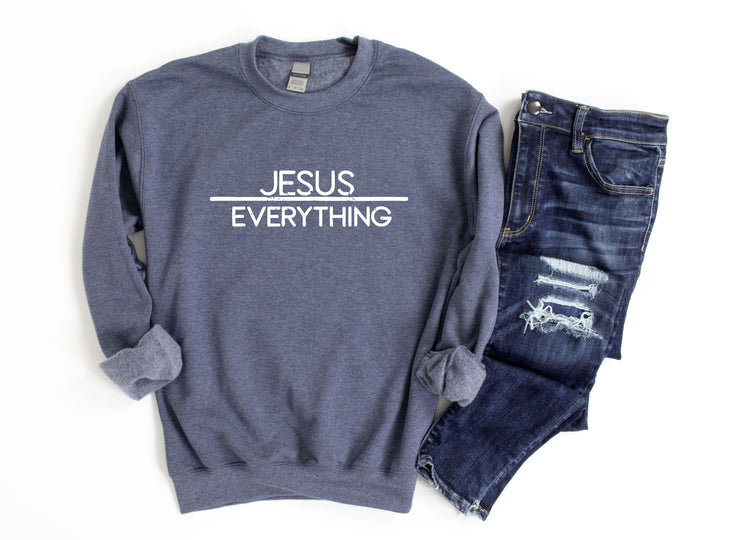 Christian Sweater - Jesus Over Everything
