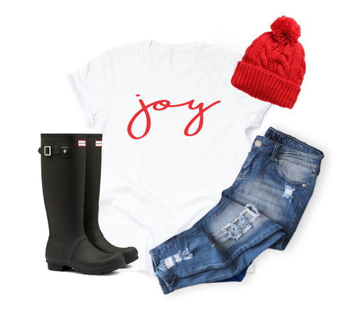 Women's Statement Christmas Shirt - Joy