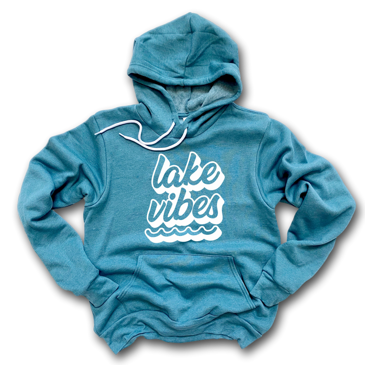 Lake Hoodie - Premium Sponge Fleece - Lake Vibes