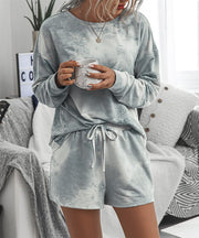 Grey Tie Dye Lounge Set