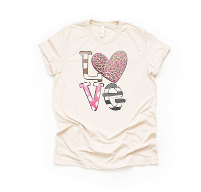 Women's Valentine's Day T-Shirt - Leopard Love