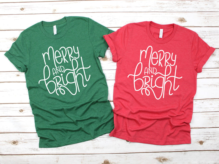 Christmas Women's Tee Merry and Bright