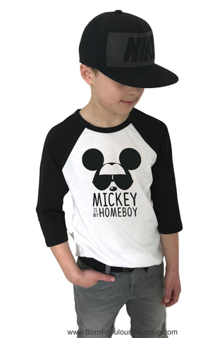 Cool Boys Disney Shirt Mickey is my Homeboy