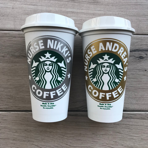 Gift For Nurses - Personalized Starbucks Cups