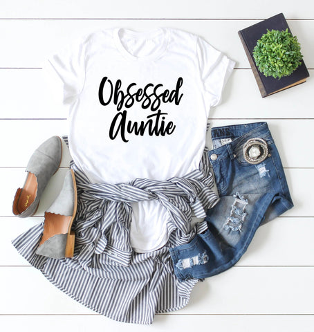 New Aunt Shirt - Obsessed Auntie