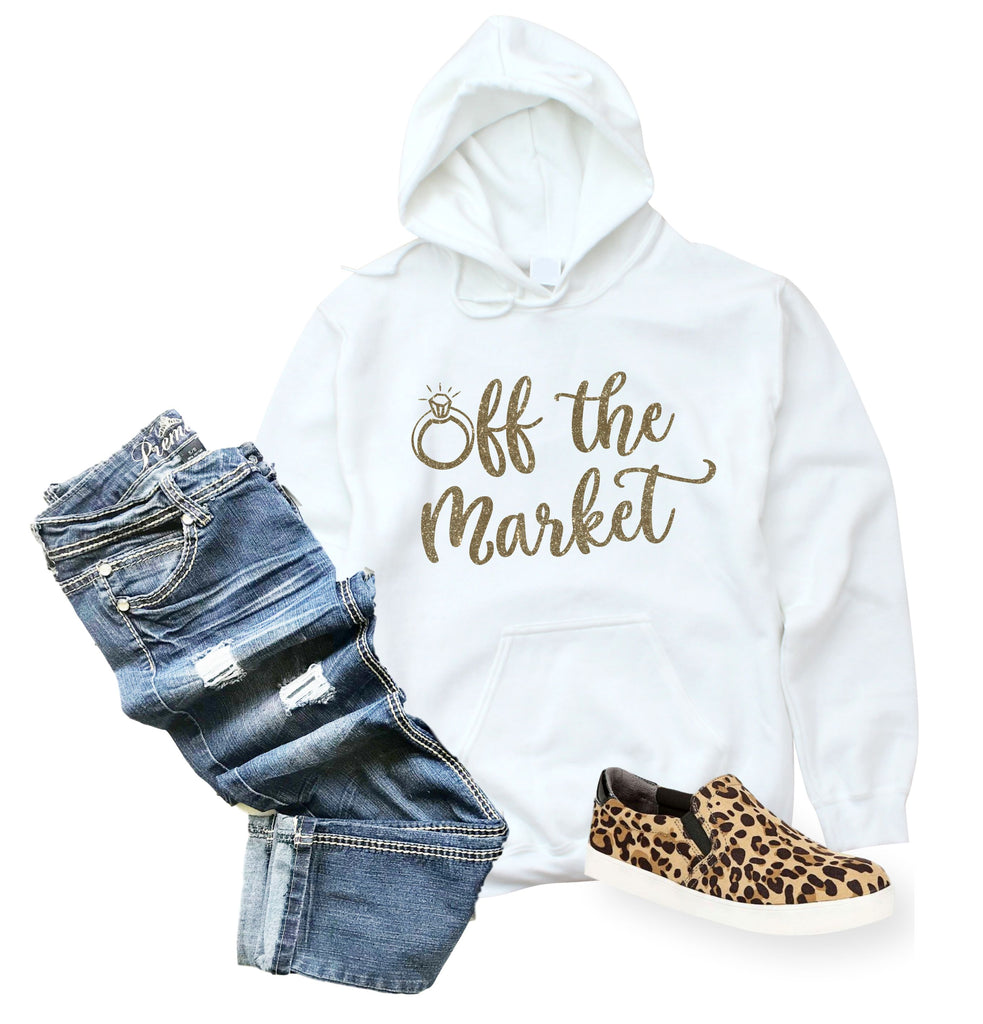 Off the Market Gold Shimmer Hoodie
