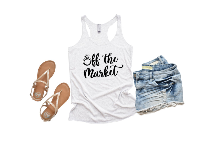 Bride To Be Shirt - Off The Market Tank Top