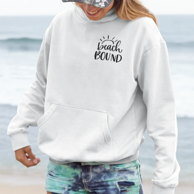 Beach Hoodie - Premium Sponge Fleece - Beach Bound