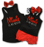 "Girls Minnie Shirt For Disney - ""Minnie Is My Bestie"""