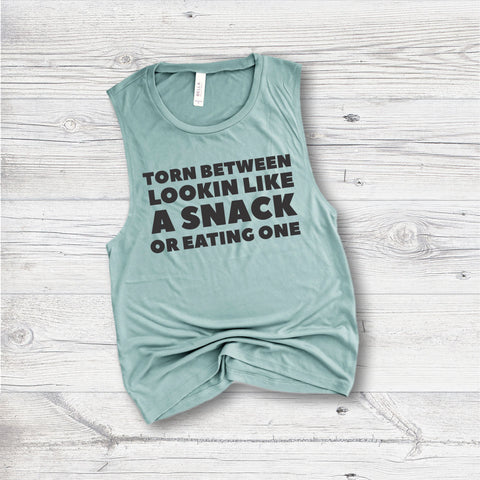 Funny Workout Tank - Lookin Like a Snack
