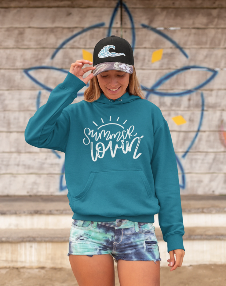 Beach Hoodie - Premium Sponge Fleece - Summer Lovin
