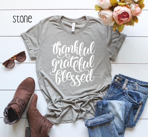 Clearance - Thankful Grateful Blessed Tee