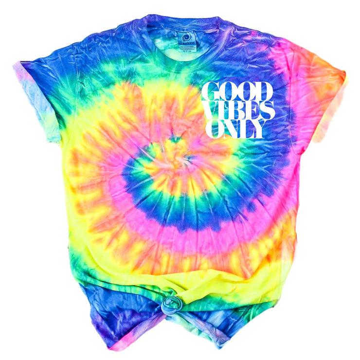 Tie Dye Good Vibes Only Tee