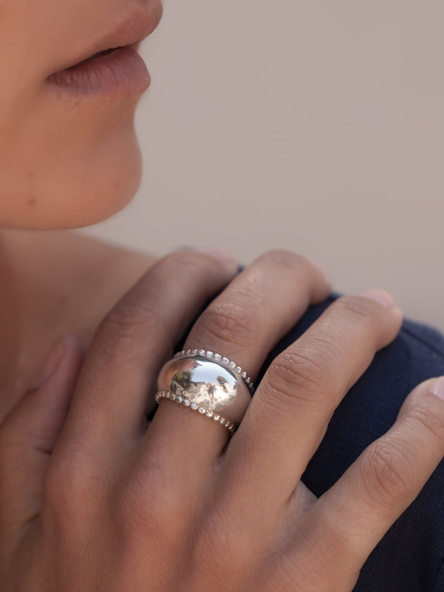 Augustina Ring Silver